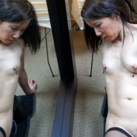 CJ With BBC - Brunette Hair, Hairy Bush, Navel Piercing, Sexy Lingerie, Toys