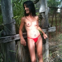 Red Bikini - Bikini Voyeur, Brunette, Small Tits