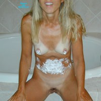 Whipped Cream - Blonde, Small Tits, Wife/Wives, Mature, Natural Tits, Bush Or Hairy