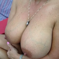 Very large tits of my wife - LolaDD