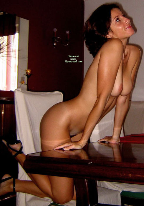 nude tits on a table