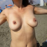 Bella - Beach, Big Tits, Hard Nipples