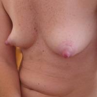 Small tits of my wife - Geraldine