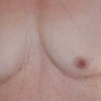 Very small tits of my wife - b