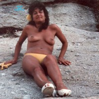 Rosybuena - Brunette, Beach, Natural Tits