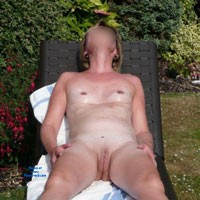 Sarah Enjoying The Summer Sun - Shaved, Small Tits