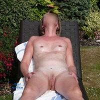 Sarah Enjoying The Summer Sun - Shaved, Small Tits