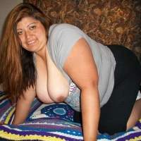 Very large tits of a neighbor