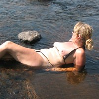 At The River - Beach, Big Tits, Blonde, Mature