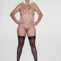 Green 3 - Blonde, High Heels Amateurs, Lingerie