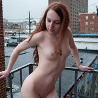 Lori's Escape - Public Exhibitionist, Redhead, Small Tits
