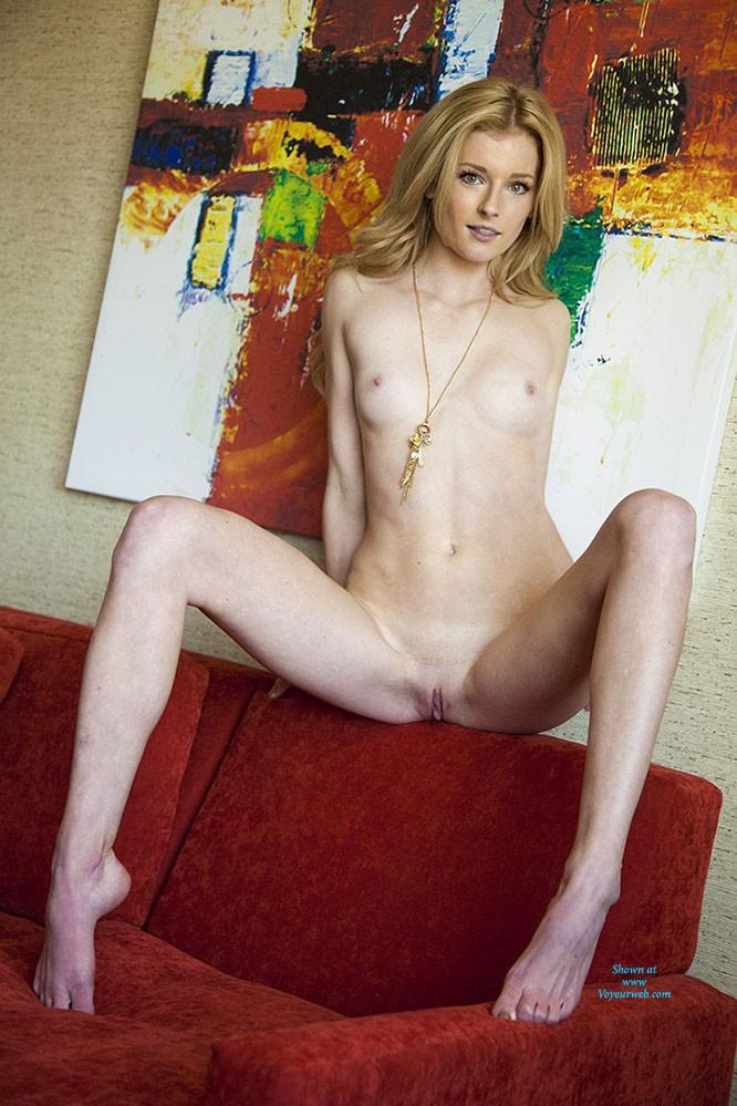 Legs spread hairy panty upskirt