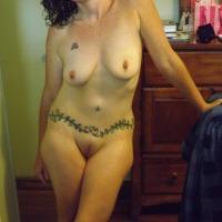 Medium tits of my wife - E