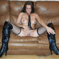 Wouldn't You Love to Taste!! - Big Tits, Brunette Hair, Hairy Bush, Heels, Mature