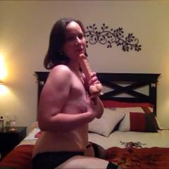 Enjoying the Evening - Brunette, Masturbation, Toys