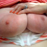 Very large tits of my wife - BarabraDD
