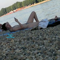 Young Nudist Couple - Beach