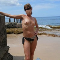 Long Legged Wife - Beach, Long Legs, Wife/Wives, Hard Nipples