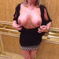 Hotel Hallway - Naked Blonde, Public Exhibitionist, Public Place