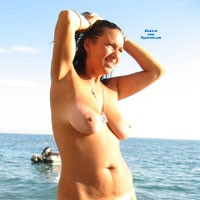 Elisabetta la Troia di Massa - Beach, Big Tits, Brunette