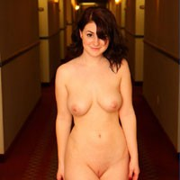 The Dare - Big Tits, Brunette, Public Exhibitionist, Public Place