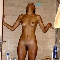 In The Shower - Brunette, Medium Tits, Wet