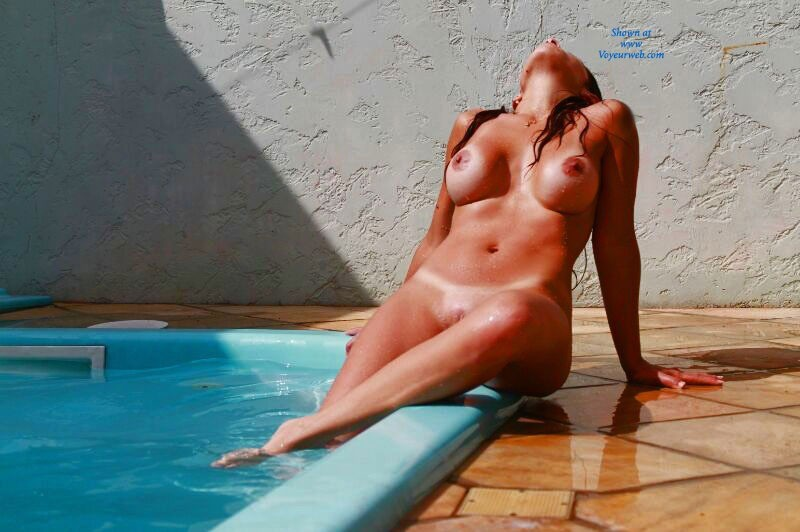 Pic #1 - Wife Playing On The Pool - Big Tits, Brunette Hair, Wife/Wives , My Beautiful Wife Loves The VW Page, So We Decided To Take Some Pics For You All. She's A Real Hot Brazilian Girl... Hope You All Love It!!