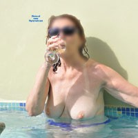 At The Pool in St Lucia - Big Tits