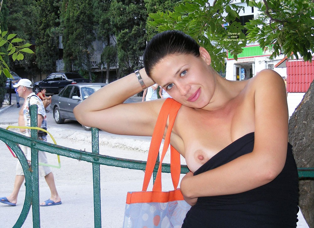 Pic #5 Viko - Summer's Gone - Brunette, Flashing, Public Exhibitionist, Public Place, Shaved