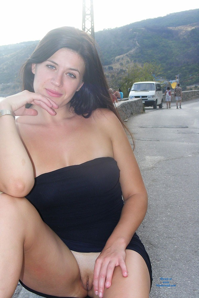 Pic #6 Viko - Summer's Gone - Brunette, Flashing, Public Exhibitionist, Public Place, Shaved