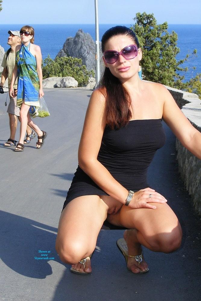Pic #9 Viko - Summer's Gone - Brunette, Flashing, Public Exhibitionist, Public Place, Shaved
