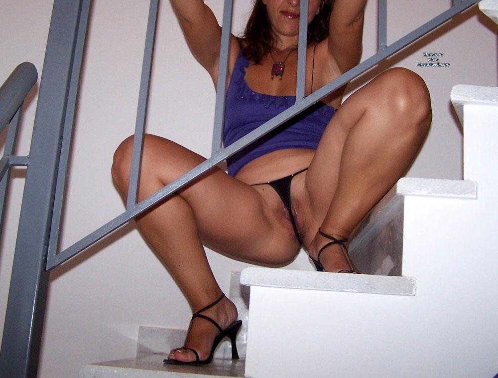 Pic #8 - Micro Thong! - Shaved, Lingerie, Brunette, High Heels Amateurs, Small Tits