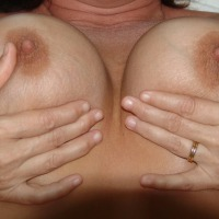 Large tits of my wife - Mrs. Bear
