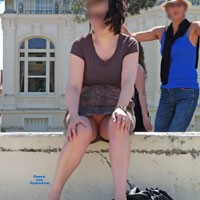 Chipie Sans Culotte - Shaved, Public Place, Public Exhibitionist