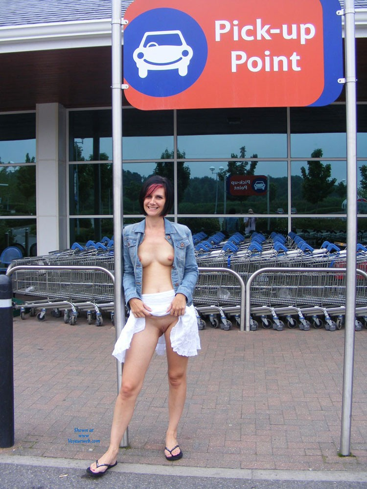 Out in Public - Brunette Hair, Exposed In Public, Milf, Nude In Public, Shaved , This Is My Milf That Loves Showing Herself Off In Public
