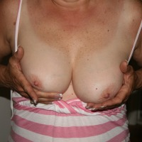 Medium tits of my wife