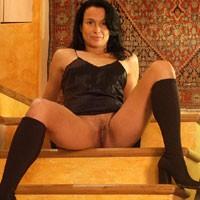 Eve - Brunette, Bush Or Hairy, Lingerie, MILF, Natural Tits