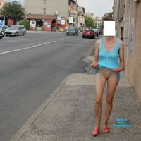 Lift Up - Flashing, Public Exhibitionist, Public Place, See Through, Shaved