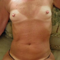 Very small tits of my wife - Mara
