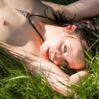 Sunbathing - Nude Outdoors, Redhead