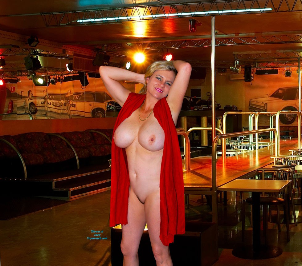 Pic #1 - Empty Club - Big Tits, Blonde Hair , We Took These A Few Months Ago Before The Club Opened, So Only The Manager And A Couple Of Cleaners About.