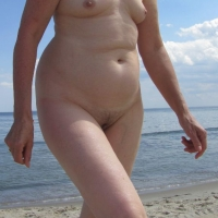 Very small tits of my wife - Beach