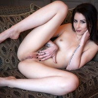 Charlotte Hot Sofa Tease - Brunette Hair, Tattoo, European And/or Ethnic