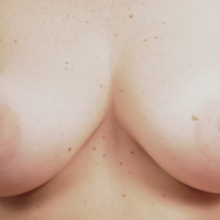 Medium tits of my wife - Martina