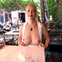 Antwerp - Big Tits, Naked Blonde, Flashing, Public Exhibitionist, Public Place