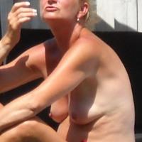 Medium tits of my wife - wife