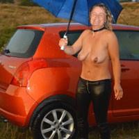 A Rainy Day in 2013 - Big Tits, High Heels Amateurs