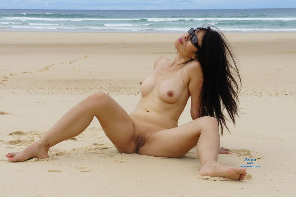 Pic #1 - Playing On The Beach - Asian Girl, Brunette Hair, Beach Voyeur, Wife/Wives , My Wife, Summer Time, Like Too Much Play On The Beach Naked And She Like When I Take Photo. I Show You Some, I Hope You Will Like