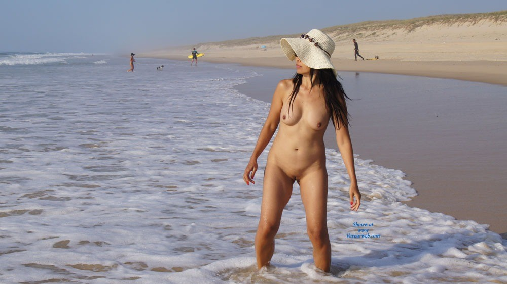 Pic #1 - On The Beach 2 - Asian Girl, Brunette Hair, Beach Voyeur , We Follow The Same History Nude On The Beach