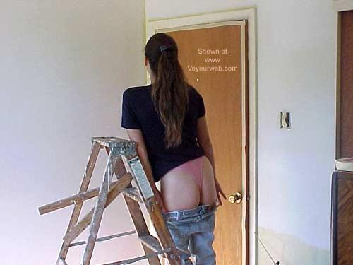 Pic #4 - SO Aalanya On A STEP Ladder